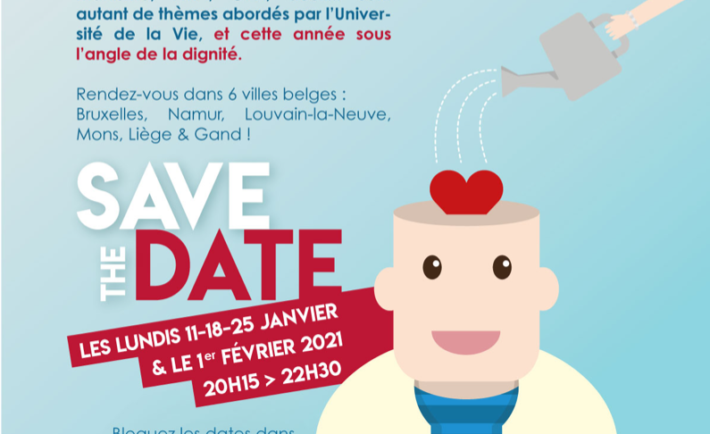 Du 11 Janvier au 1er Février | Save the Date : l'Université de la Vie 2021 dans 6 villes belges