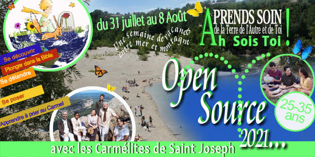 Du 31 Juillet au 8 août | 8ème session Open Source par le Carmel Saint Joseph