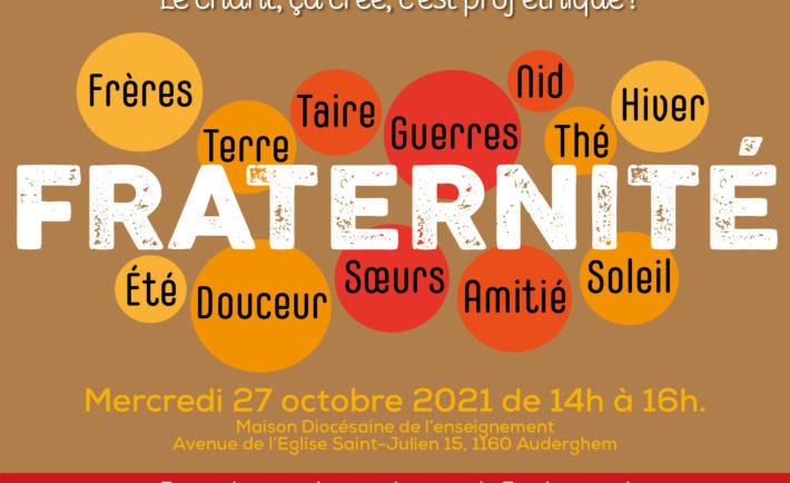 27 octobre | Atelier chants et symboles sur le thème de la fraternité